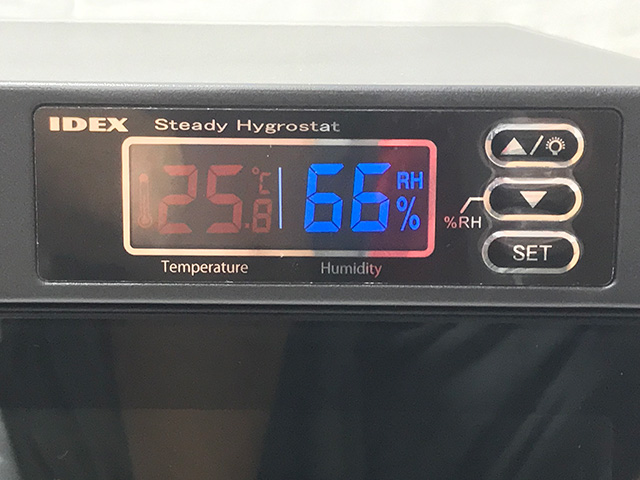 防湿庫のセンサー表示