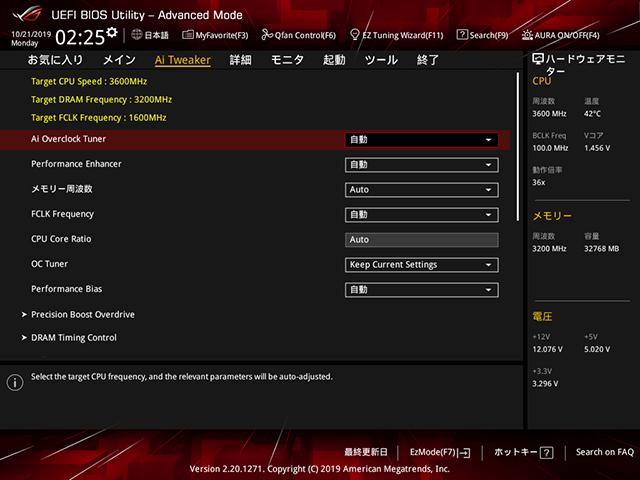 X570-F メモリクロック