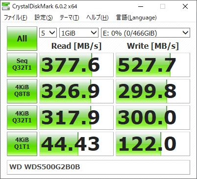 WDS500G2B0B CrystalDiskMark