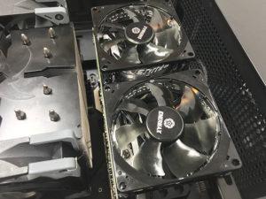 ファンステイ x16接続で冷却