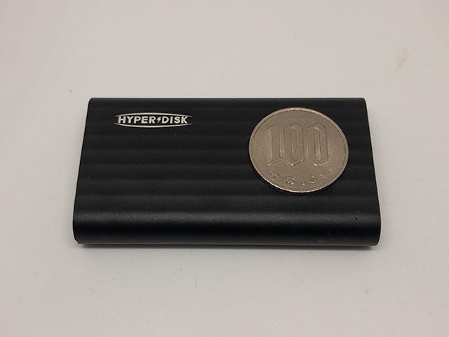 HyperDisk 百円玉と比較