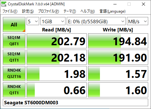 ST6000DM003 CrystalDiskMark